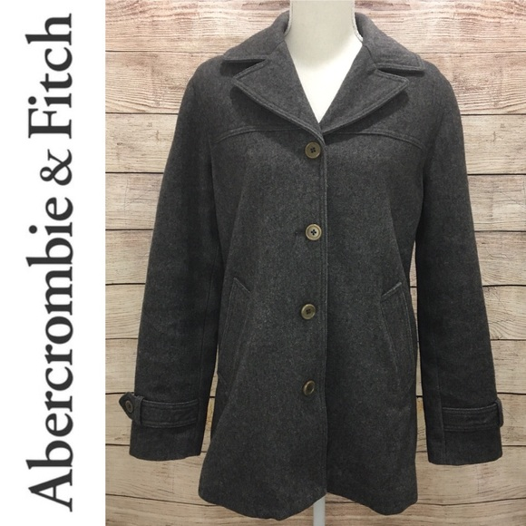 Abercrombie & Fitch Jackets & Blazers - Abercrombie & Fitch Wool Peacoat